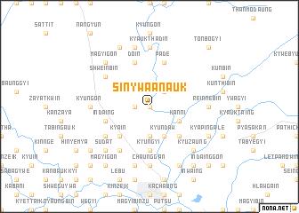 map of Sinywa Anauk