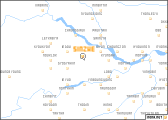 map of Sinzwe