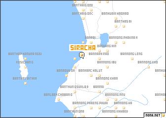Si Racha Thailand map nonanet