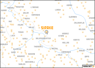 map of Sirakë