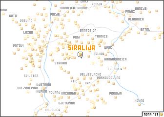 map of Širalija