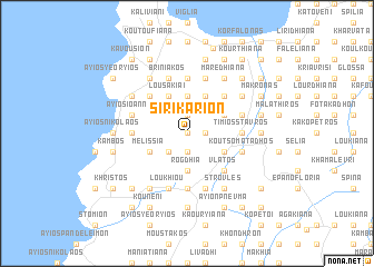 map of Sirikárion