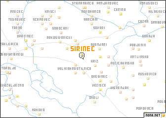 map of Širinec