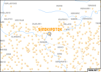 map of Široki Potok