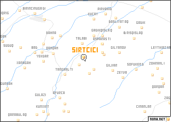 map of Sırt Çiçi