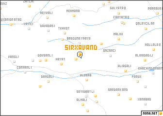 map of Sırxavǝnd