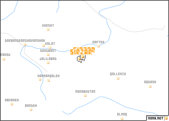 map of Sirzar
