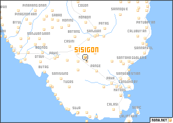 map of Sisigon
