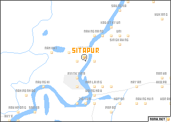 map of Sitapur