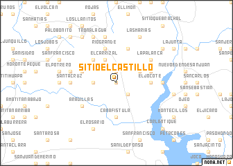 map of Sitio El Castillo