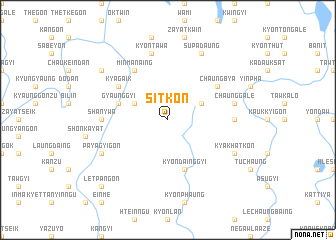 map of Sitkon