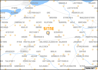 map of Sitne