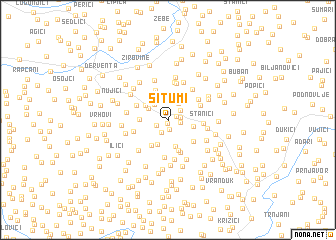 map of Šitumi