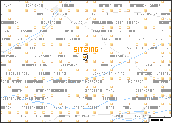 map of Sitzing