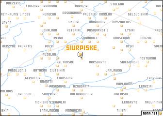 map of Šiurpiškė