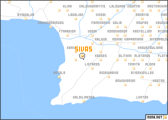 map of Sívas