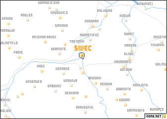 map of Šivec