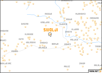map of Sivolji