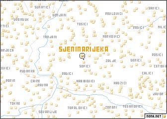 map of Sjenina Rijeka