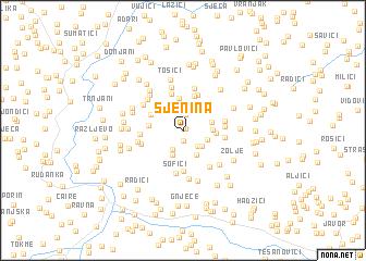 map of Sjenina