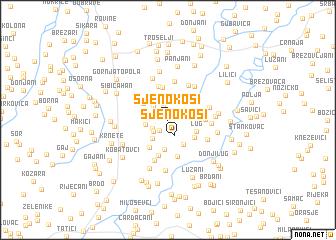 map of Sjenokosi