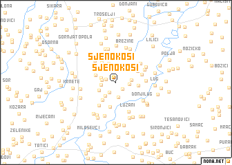 map of Sjenokosi