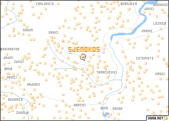 map of Sjenokos