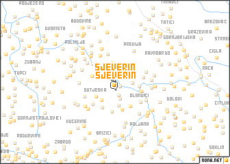 map of Sjeverin