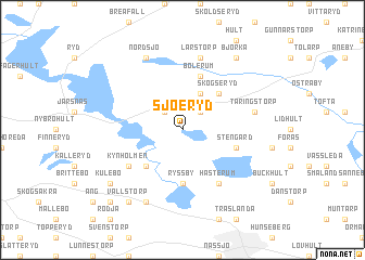 map of Sjöeryd