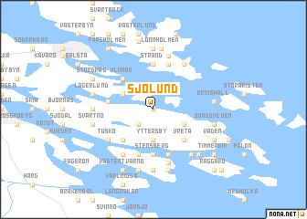 map of Sjölund