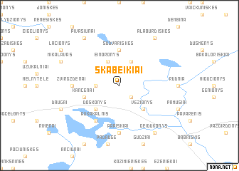 map of Skabeikiai
