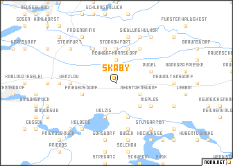 map of Skaby