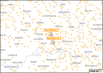 map of Skakići