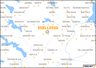 map of Skållerud