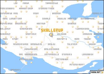 map of Skallerup