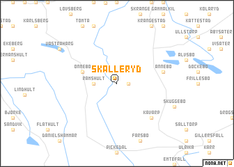 map of Skälleryd