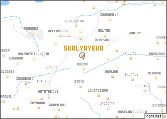 map of Skalyayeva