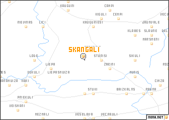 map of Skangaļi