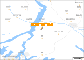 map of Skantebygda