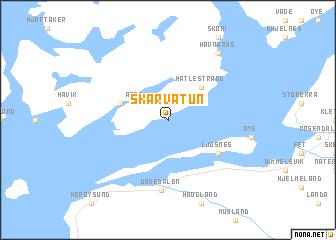 map of Skarvatun