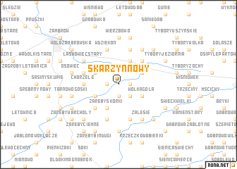 map of Skarzyn Nowy