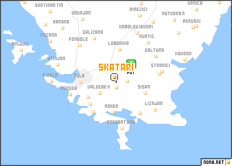 map of Škatari