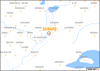 map of Šķaune
