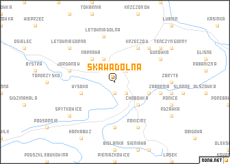 map of Skawa Dolna