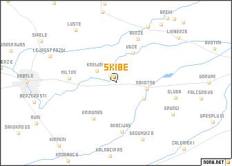 map of Šķibe