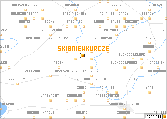 map of Skibniew Kurcze