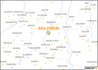 map of Skilvioniai