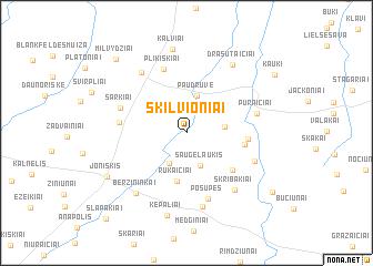 map of Skilvioniai