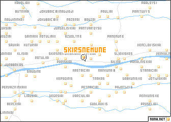 map of Skirsnemunė