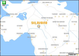 map of Sklávaina
